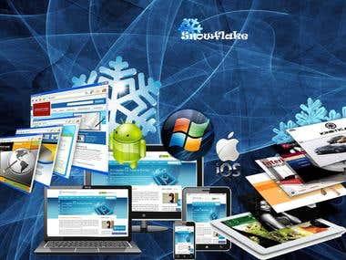 Diseño grafico de portada y slider para sitio web