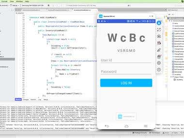 WcBc for JD Edwards Xamarin app