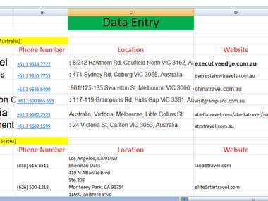 Data Entry Report
