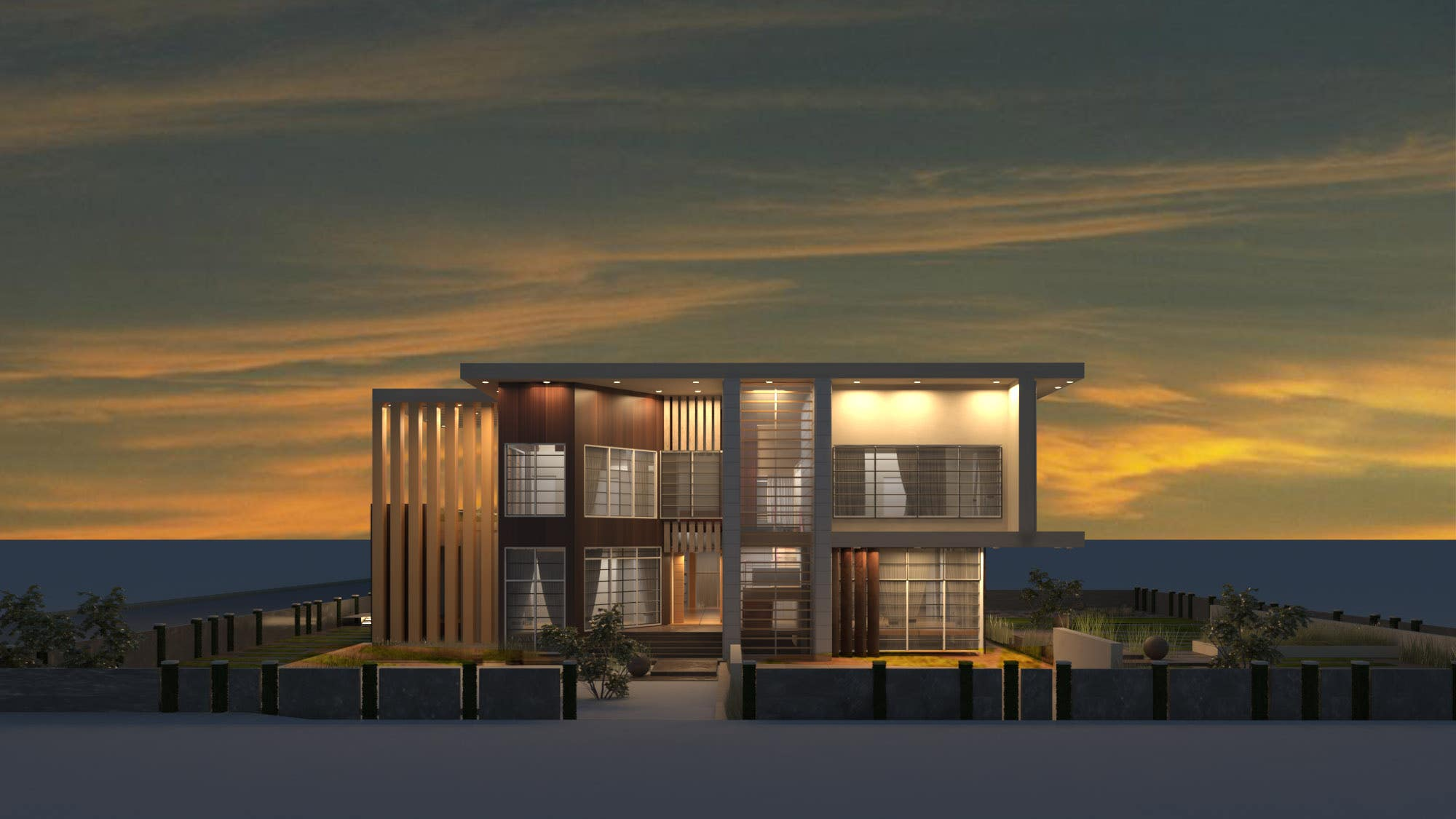 Visualizing a Modern Villa using 3Ds max and V-ray