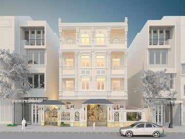 Exterior classic design for building in ( October city)