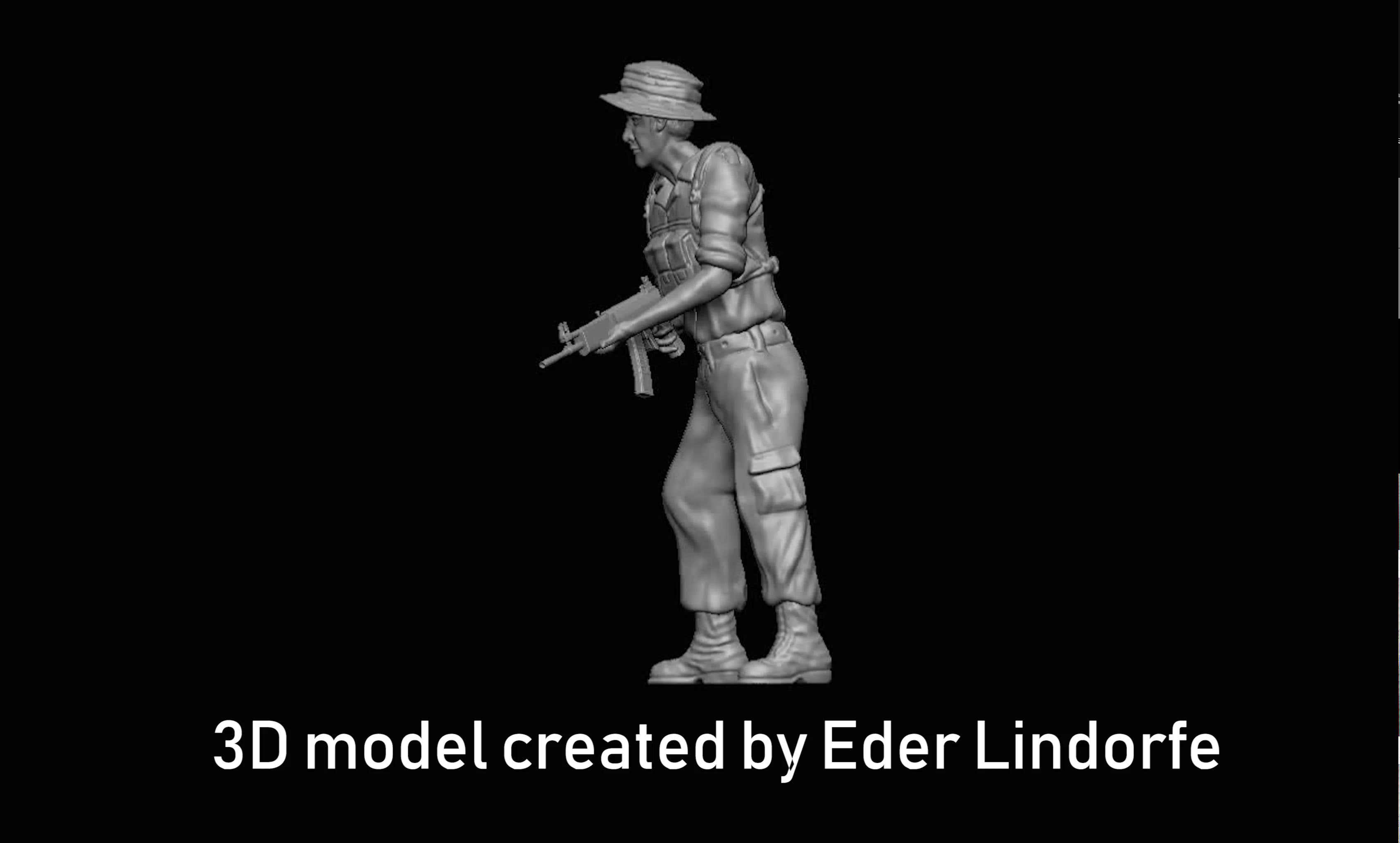 South African Defense Force Troop 3D model for 3D printing