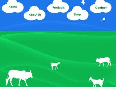 Farming Website UI Design & CSS-XHTML Coding , Programming