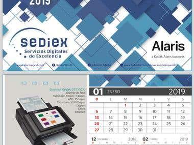 Diseño de Calendario Sediex