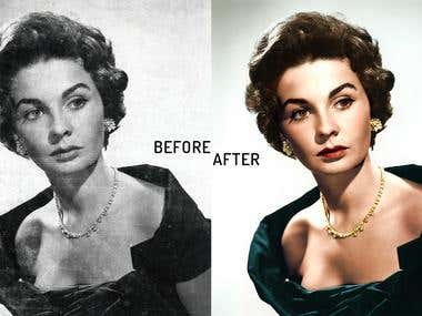 Photo restoration and coloring
