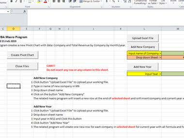 Excel Automation: create pivot charts from 7 sheets