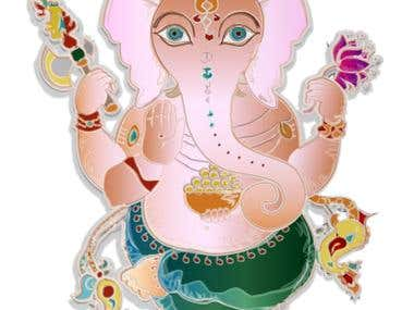 Hindu theme illustrations -