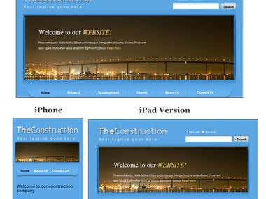 A Responsive Design template