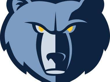 Memphis Grizzlies Bear logo design