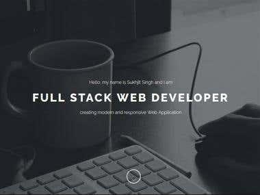 Developer's Portfolio | A PROFOLIO TEMPLATE