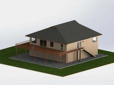 3D~ Need basic 3d perspective of a 2 story residence FROM PR