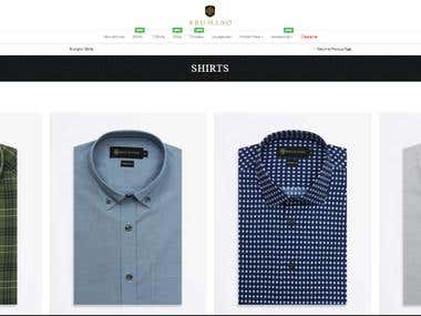 E commerce store build by using Laravel HTML5 JavaScript