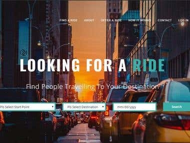 PHP Website Design & Development for a Ride Sharing Website