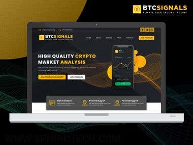 BTC Signals | Crypto Signal Website Design