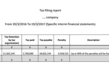 Tax filling statement