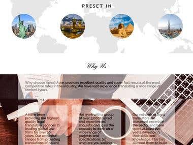 Apex company profile website