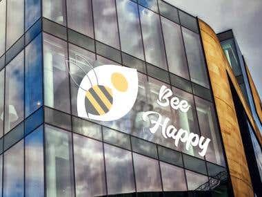 bee happy on mockup