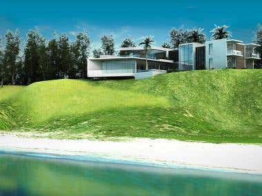 Seaside modern house