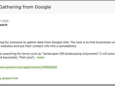 Data Gathering from Google