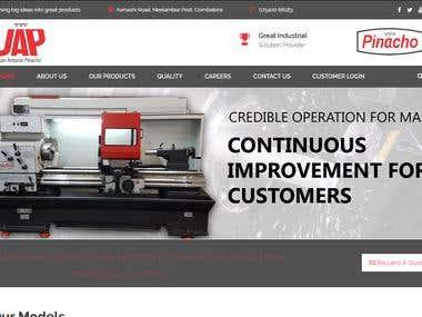 WordPress Website - Manufacturing Company