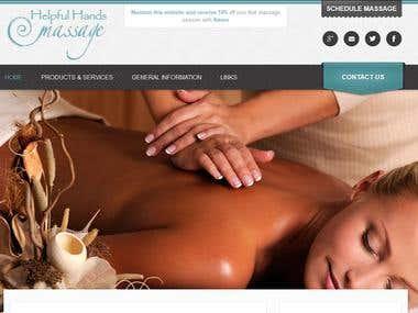 WordPress Website - Helpful Hands Massage