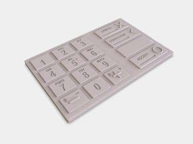 KeyPad modeling for 3D Printing