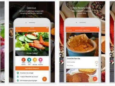 Food Ordering App -Asian Recipes ( Ionic Framework )