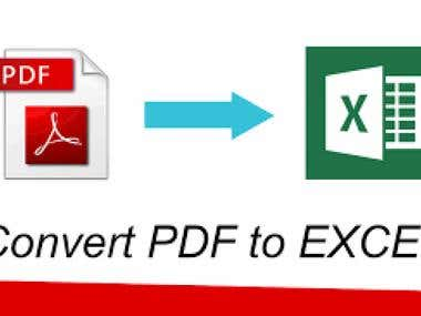 PDF to Excel Work