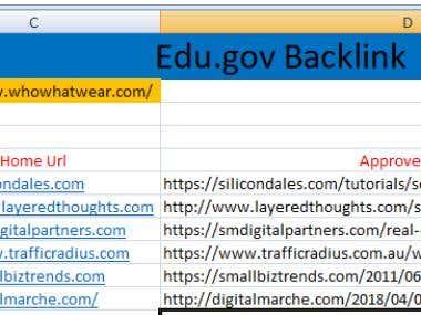 SEO Backlink ( Edu.gov & Local Citation)