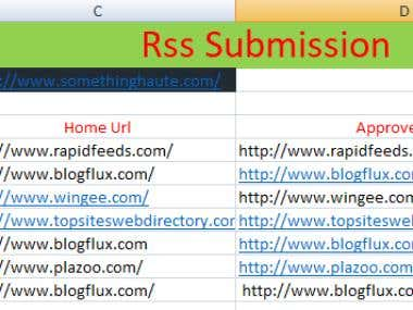 SEO Backlink ( Rss & Image Submission)