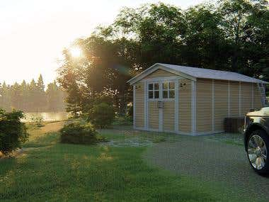 Simple SHED rendering for commercial use
