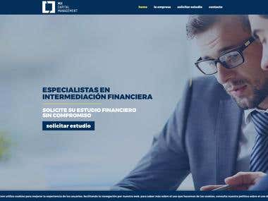 Diseño web sobre wordpress para portal financiero