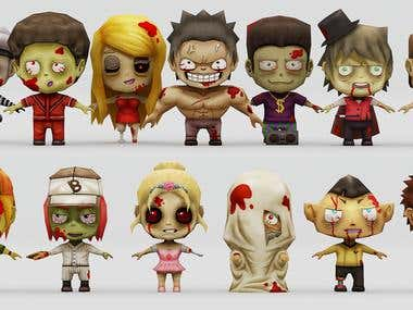 3D GAME CHARACTERS.