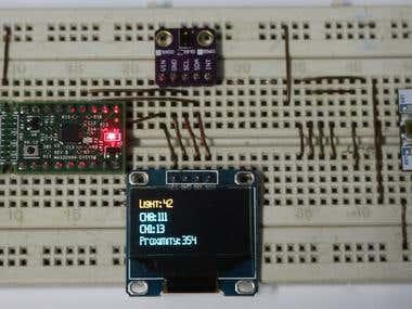APDS9930 sensor interfacing with MAXIM MAX32660 EVSYS