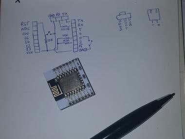 Schematics for DIY ESP8266 (aka ESP12-E) WiFi Module