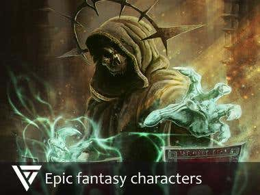 Epic fantasy characters