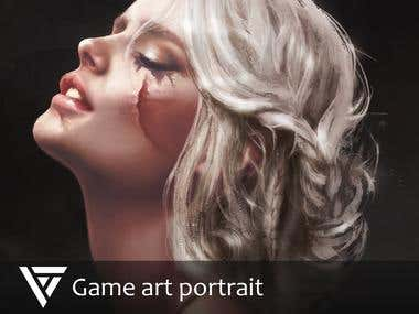 Game art portrait