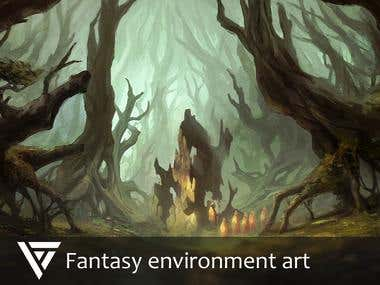 Fantasy environment art