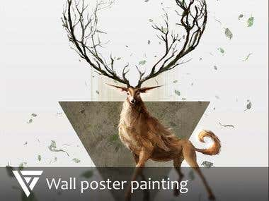 Wall poster painting