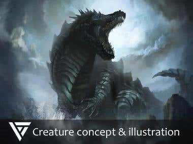 Creature concept & illustration