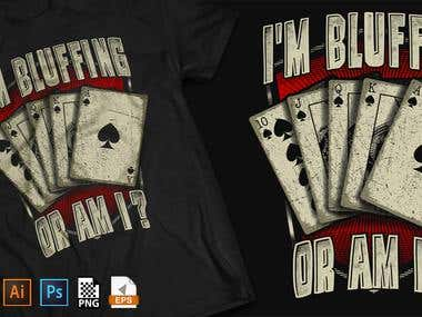 POKER related t-shirt