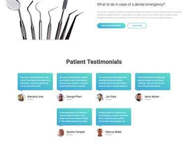 Wordpress Dentist Website
