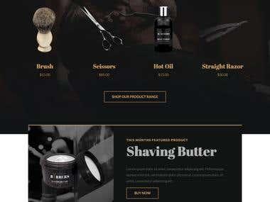 Wordpress Barber Shop Website