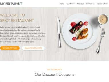 Restaurant Web Site