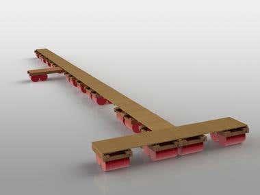 Floating pier 3D model
