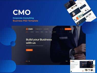 CMO- Consulting Business PSD Template