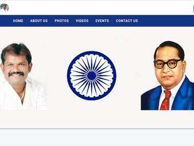Politician Website Development