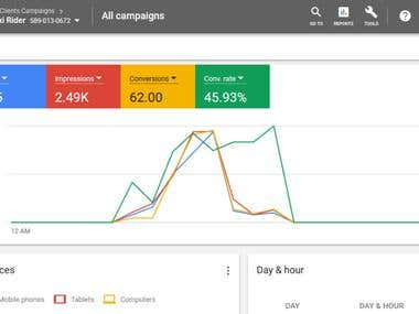 Google Ads Campaign Result