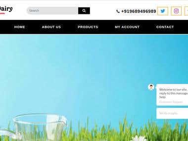 Online Milk Selling Website