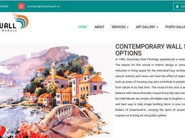 Wall Mural Website